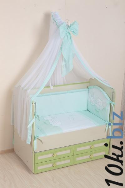 Комплект в кроватку (7 предметов) №50 салатовый Детское постельное белье в России