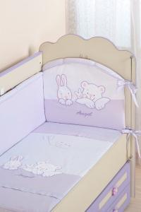 Фото Постельное белье Комплект в кроватку (7 предметов) №50 сиреневый