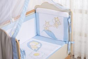 Фото Постельное белье Комплект в кроватку (7 предметов) №62 голубой