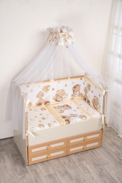 Комплект в кроватку (7 предметов) №59.2 бежевый