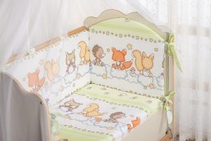 Фото Постельное белье Комплект в кроватку (7 предметов) №59.2 салатовый