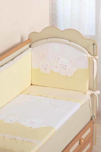 Комплект в кроватку (7 предметов) №50 бежевый