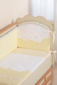 Фото Постельное белье Комплект в кроватку (7 предметов) №50 бежевый