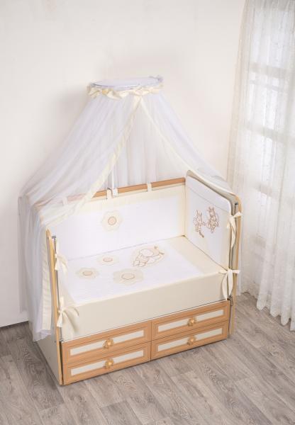 Комплект в кроватку (7 предметов) №62 бежевый