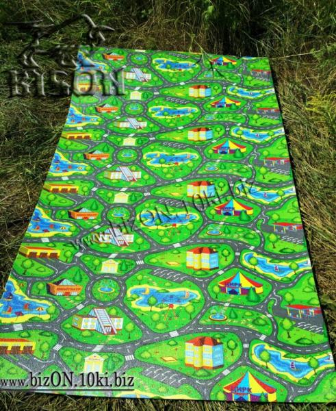 Фото  Маты & Карематы Развивающий детский коврик «Городок XL»,    1500 х 1100 х 8 мм