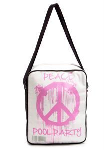 Фото ТЕКСТИЛЬНЫЕ СУМКИ Мужская сумка POOLPARTY Peace с ремнем на плечо