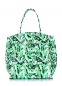 Фото КОЖАНЫЕ СУМКИ Кожаная сумка Pearl с пальмовым принтом