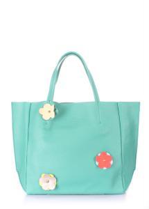 Фото  Кожаная сумка POOLPARTY Soho Flower