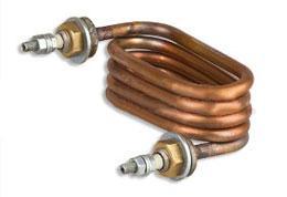Фото Запчасти для медицинского оборудования ТЭН 125.06.001 (2,4 кВт, 220В) медь для дистилляторов  АЭ-10 МО
