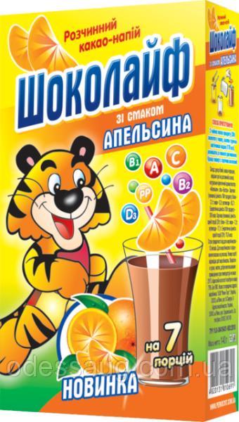 "Какао напиток ""Шоколайф"" апельсин,140 г"