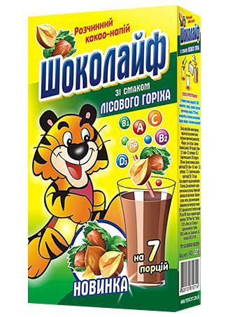 """Какао напиток """"Шоколайф"""" лесной орех,140 г"""