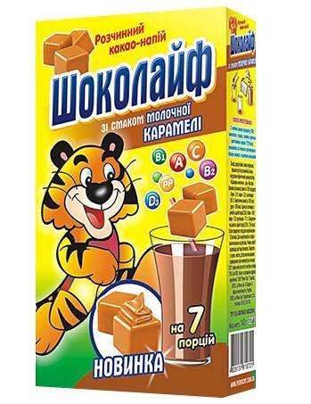 """Какао напиток """"Шоколайф"""" молочная карамель,140 г"""