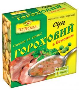 Фото Пища  быстрого приготовления Суп гороховый со вкусом бекона,160 г