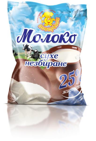 Молоко сухое 25 % жирности, 150 г.