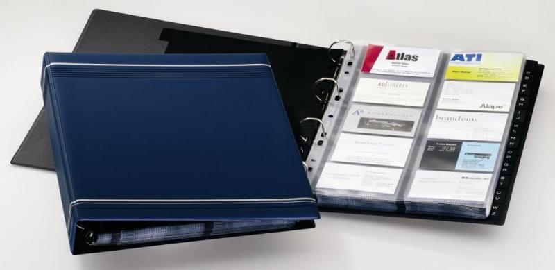 Визитница VISIFIX® от Durable  A4 на 4 кольцах, 20 вкладышей, 400 визиток, ассорти  (ЦЕНЫ см. подробнее)