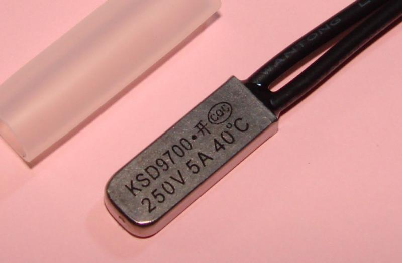Термостат KSD9700 5A 40 градусов нормально разомкнутый