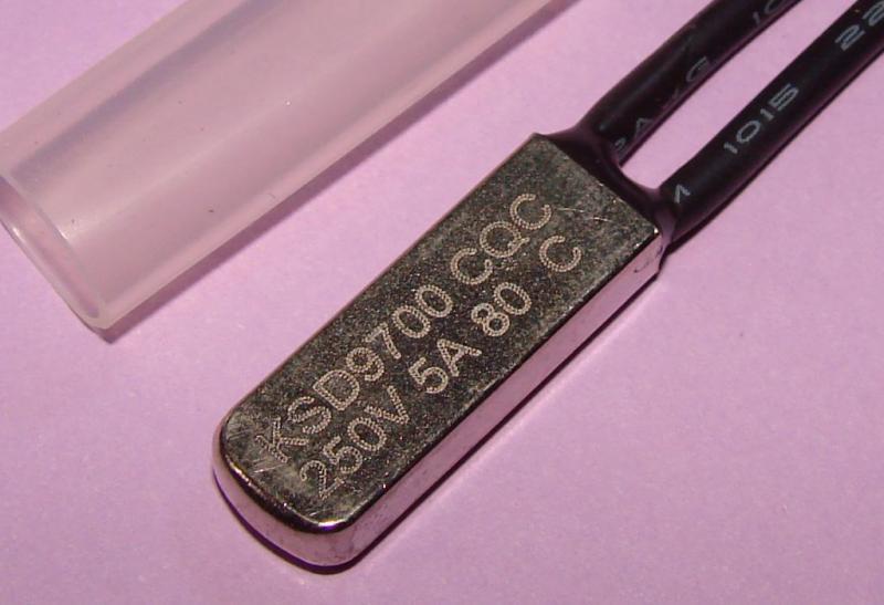 Термостат KSD9700 5A 80 градусов нормально разомкнутый