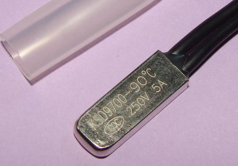 Термостат KSD9700 5A 90 градусов нормально замкнутый