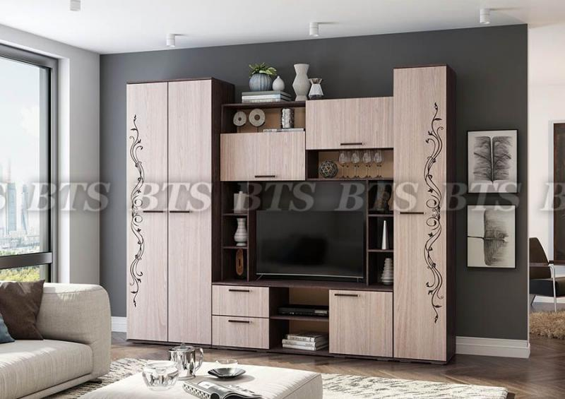 BTS мебель-Гостиная «Флора» -2