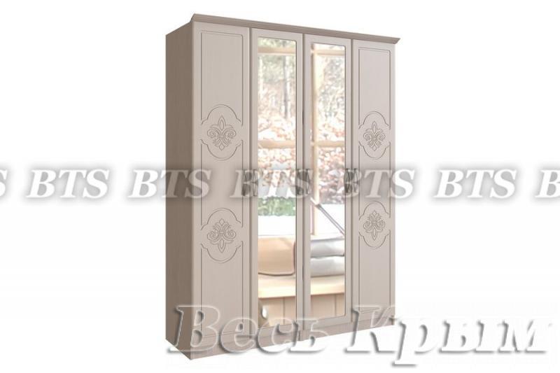 Шкаф 4-х створчатый Лилия(BTS МЕБЕЛЬ) Шкафы для спальни в Крыму