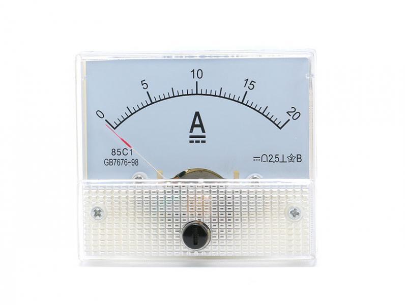 Амперметр аналоговый 20 А с встроенным шунтом