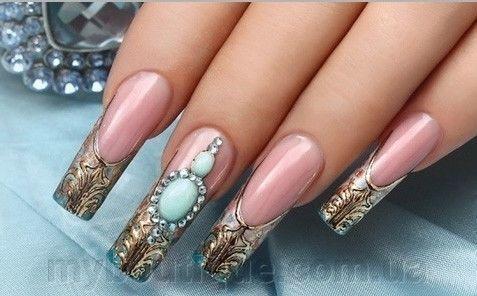 Фото Гелевые системы для наращивания ногтей, Витражные гели для наращивания ногтей Витражный гель для наращивания ногтей (голубой)