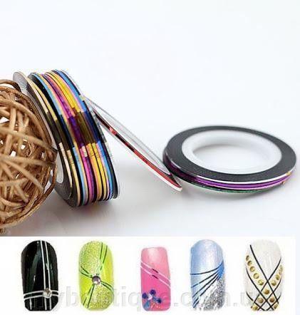 Набор скотчей для маникюра, для дизайна ногтей (10 шт)