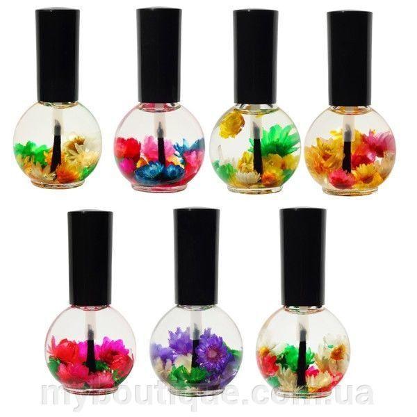 Цветочное масло для кутикулы и ногтей Naomi (роза, миндаль, лимон, лаванда, ваниль, апельсин, лилия) 15 ml