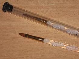 Кисть №4 для акрилового наращивания ногтей с винтовой ручкой