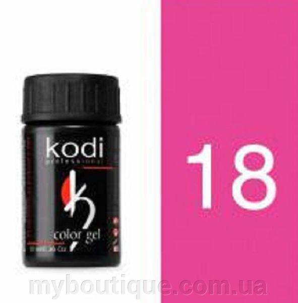 Гель цветной 18 Neon pink 4 мл (Kodi)