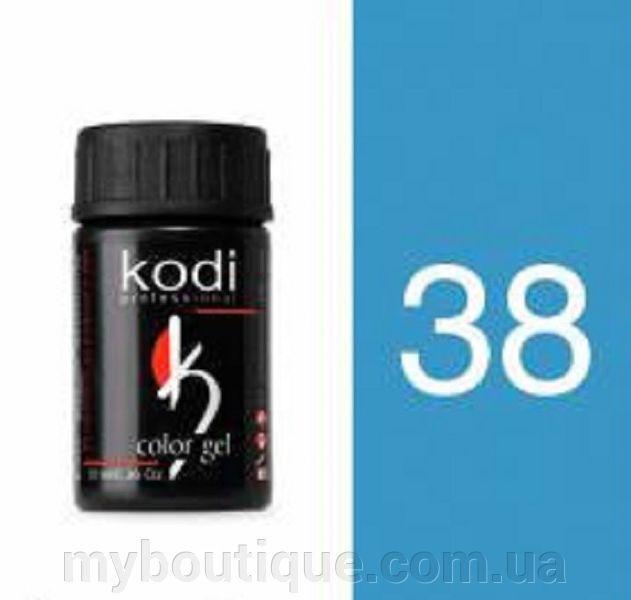 Гель цветной 38 Neon blue 4 мл (Kodi)