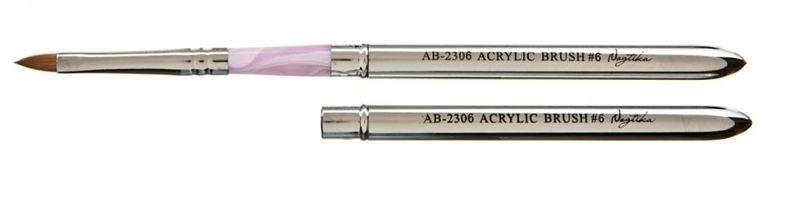 Кисть №4 для акрила натуральная с ручкой трансформер