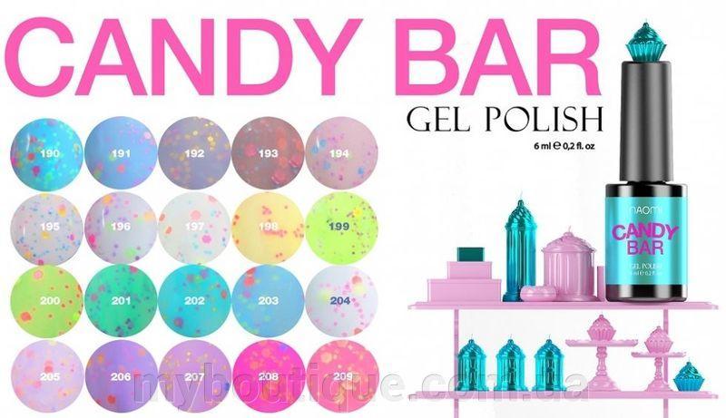 Гель-лаки Naomi Candy Bar 6 мл
