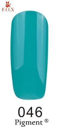 Гель-лак F. O. X Pigment 046 (сине-зеленый) 6 мл