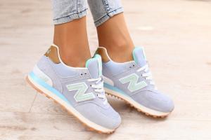 Фото Женские Кроссовки New New Balance Женские кроссовки, замшевые, сиреневого цвета