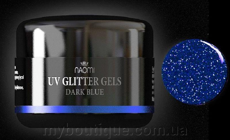 Гель UV Glitter Gel Dark Blue, 14 гр Naomi