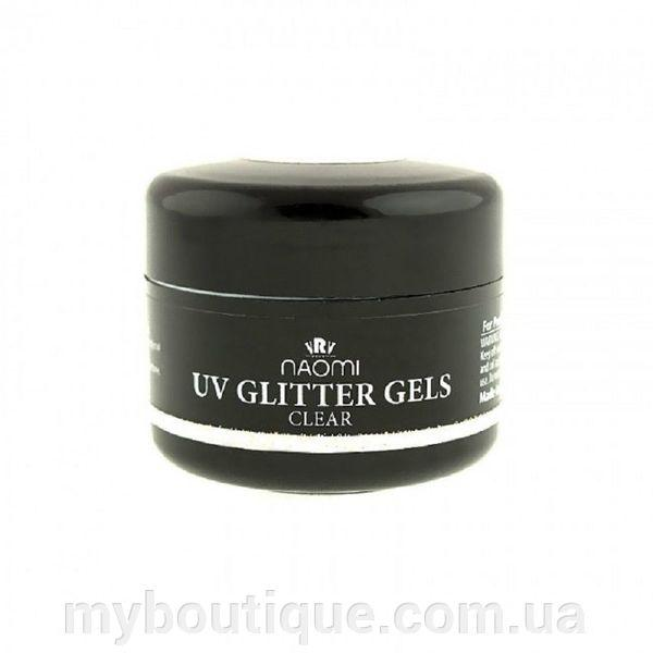 Гель UV Glitter Gel Cler, 14 гр Naomi