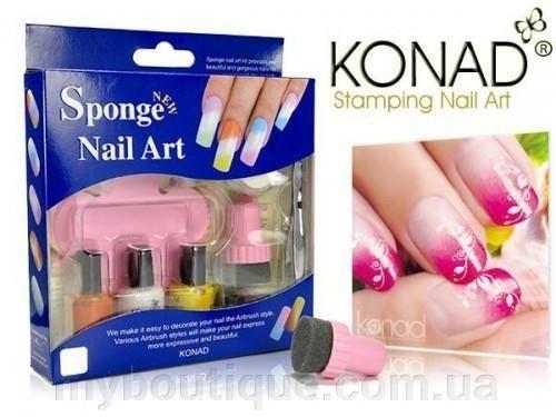 Набор Для Стемпинга Sponge Set 1 (Спонж Сет) Konad