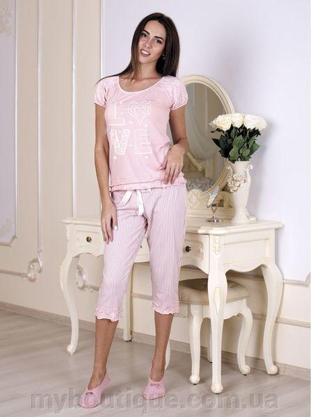 Нежно- розовая женская пижама 502