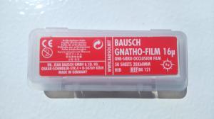 ВК121 Артикуляционная фольга односторонняя, красная (Bausch Gnatho-Film)