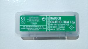 ВК122 Артикуляционная фольга односторонняя, зелёная (Bausch Gnatho-Film)