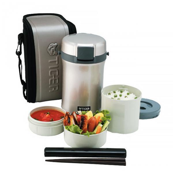 Многофункциональный термос для еды Tiger LWU-B170 (1,22 литра) серебристый