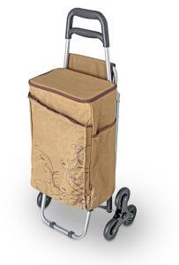 Фото  Сумка-холодильник (термосумка) на колесиках, коричневая, 28 л.