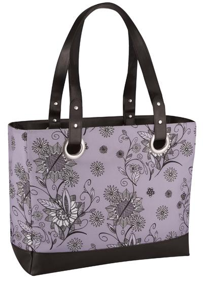 Сумка-холодильник (термосумка) Raya Tote-Purple Flower, 14 л.