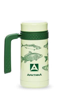 "Термос - кружка со съемным ситечком, ""Арктика"", зеленая, 500 мл"