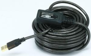 Фото Кабель, роз`єми USB 2.0 активний кабель 10 метрів штекер - гніздо