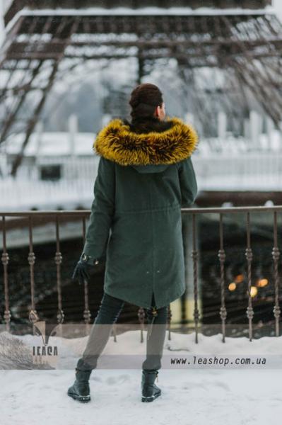 Женская парка с финской чернобуркой натуральнаяя