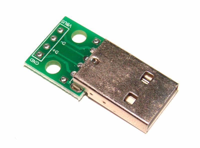 Плата разъём штекер USB переходник