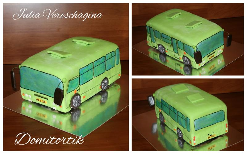 Торт автобус (маршрутка) Богдан (3D торт)