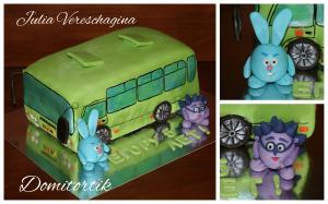Фото Торты, Торт-прикол Торт автобус (маршрутка) Богдан (3D торт)